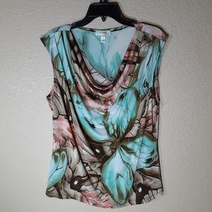 Dressbarn Butterfly Print Blouse Size XL